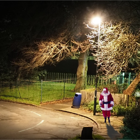 SANTA ENJOYS HIS CHRISTMAS EVE LOCKDOWN EXEMPTION by Dave S