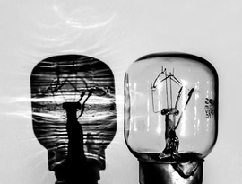 Light Bulb with Shadow by Dave S