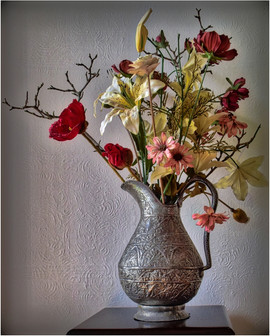 Flowers in an Iranian Pot by Alan M