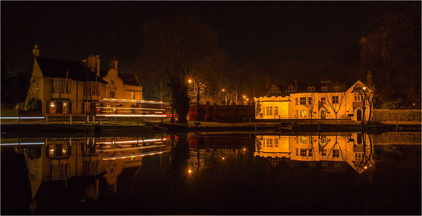 Carshalton Village Night by Brian C
