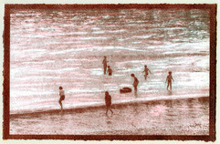 The Bathers (Gum print) by Mandy B