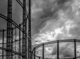 Canalside gasworks by David A