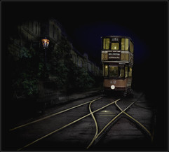 Late Night Tram by Dave S