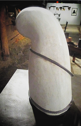 Untitled. Marble, steel cable. 2015