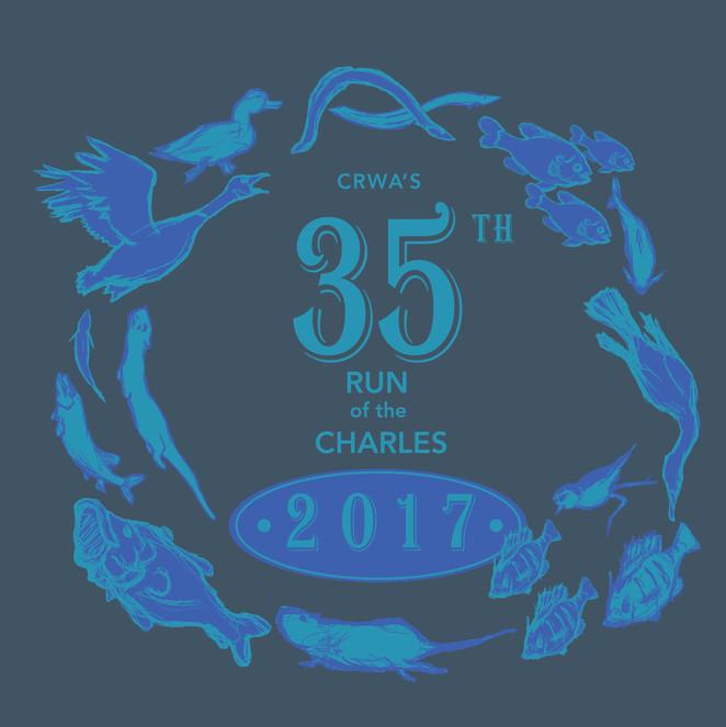 Run of the Charles t-shirt design