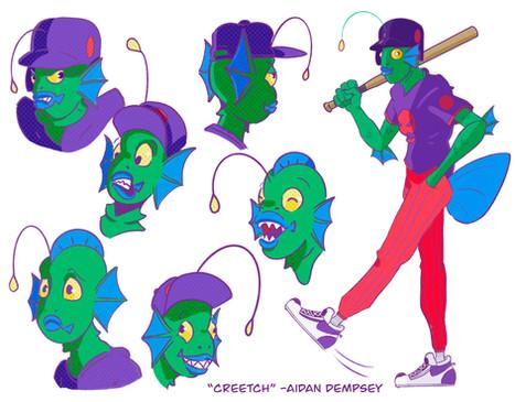 Creetch Expression Sheet