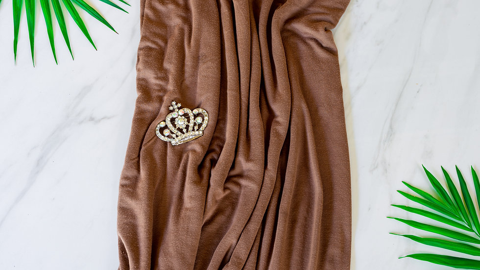 Cotton Jersey Turban - Camel Brown