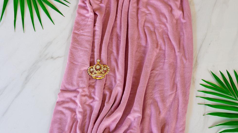 Cotton Jersey Turban - Blush Pink