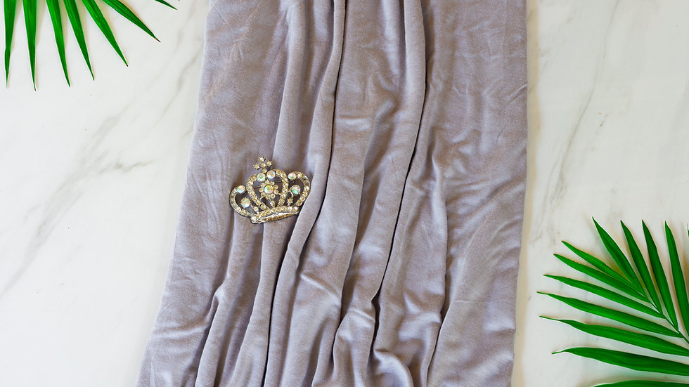 Cotton Jersey Turban - Pewter Gray