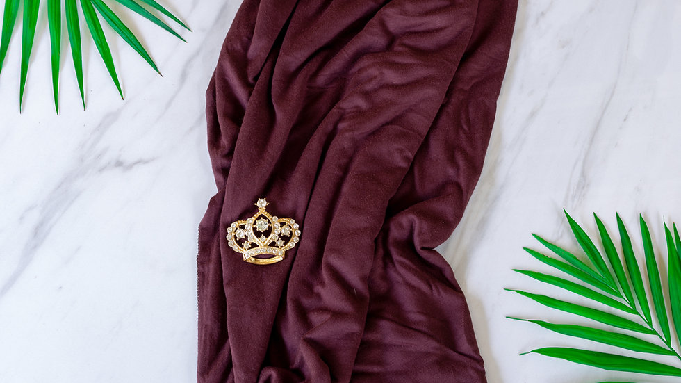 Cotton Jersey Turban - Chocolate Brown