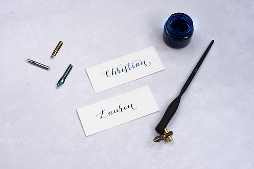 Calligraphy place name cards