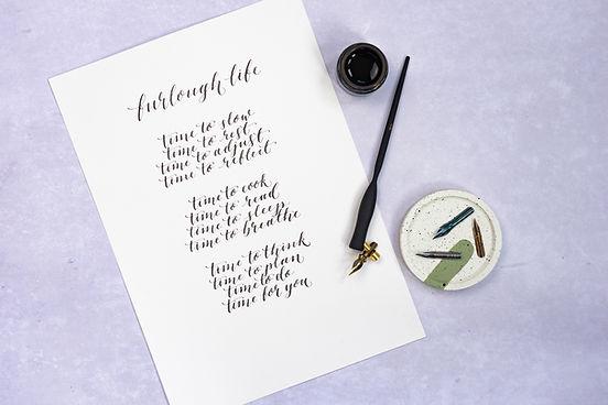 Bespoke calligraphy poem