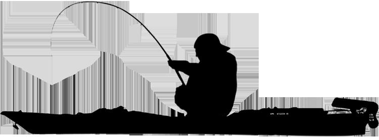 Kayak Fishing Clip Art Image