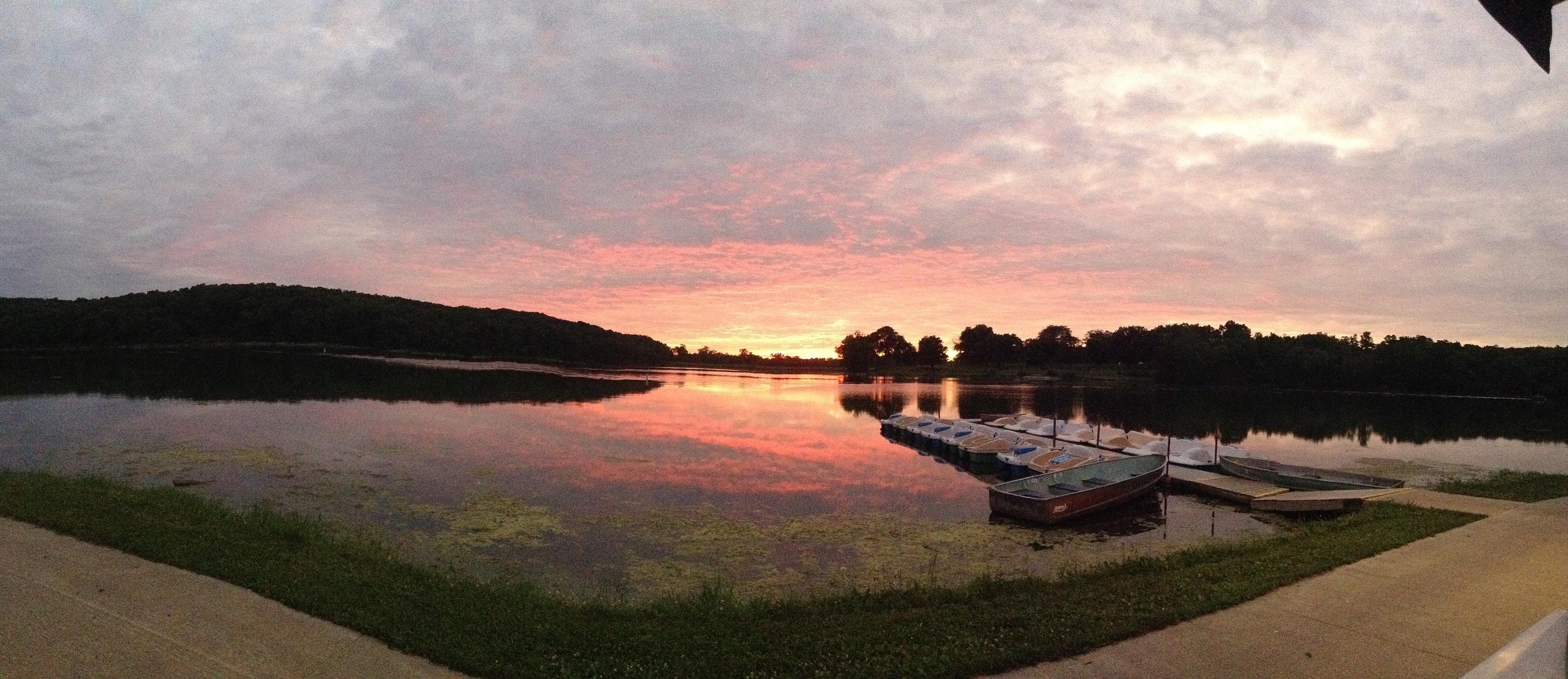 Sunset at Lake Ahquabi