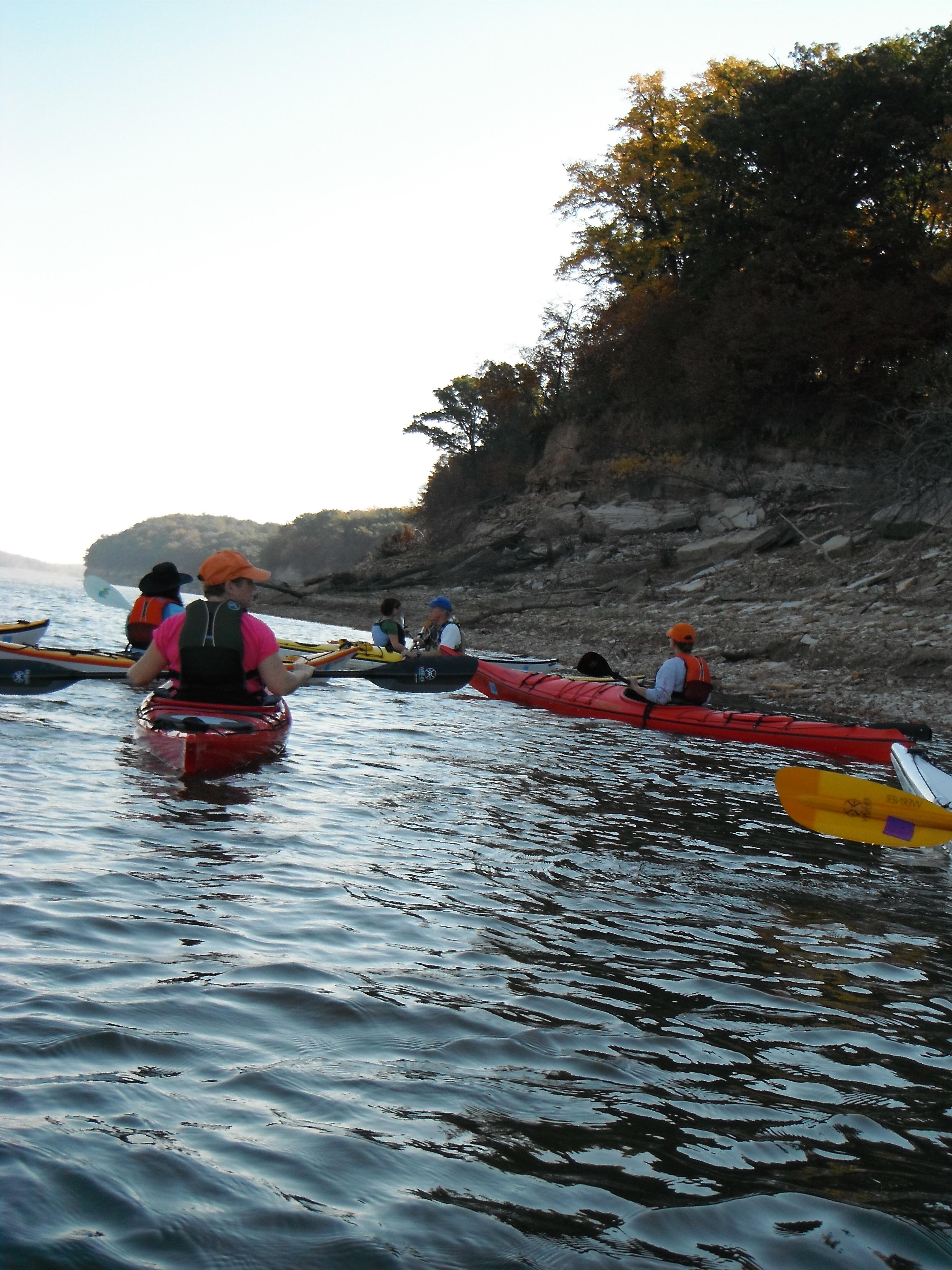 Shore line paddling