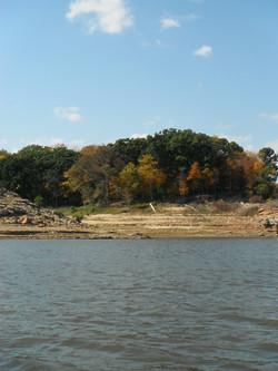 Fall colors along the shore