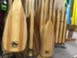 Display of canoe paddles