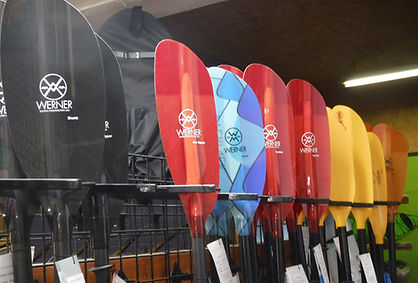 colorful display of werner paddles