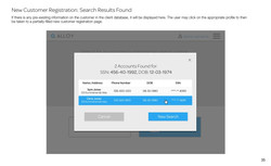 New Customer Registration_ Search Results Found