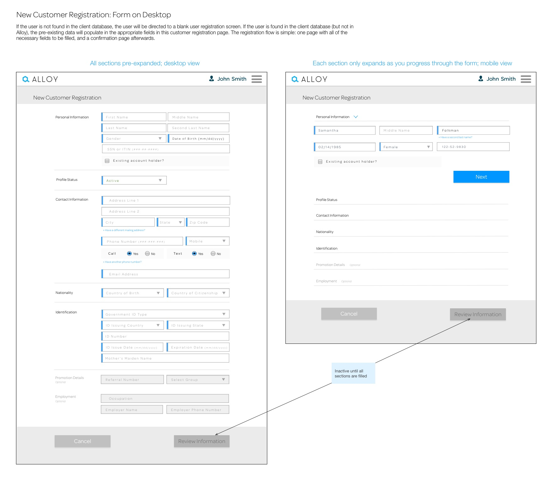 New Customer Registration_ Form on Desktop