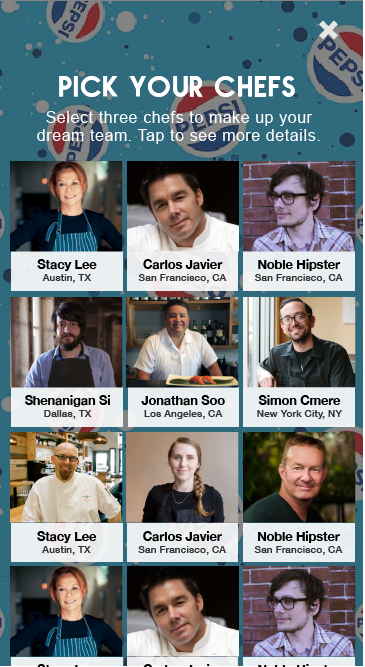 Pick chefs