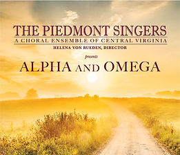 Piedmont Singers- Alpha and Omega Poster