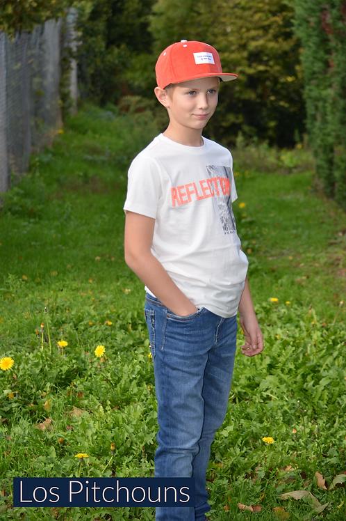 T Shirt Blanc et Orange