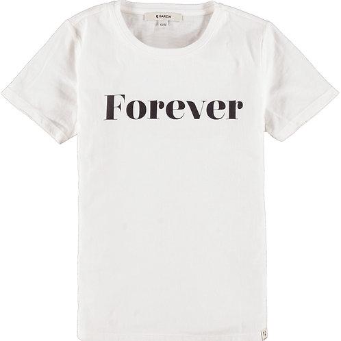 T Shirt Blanc Forever