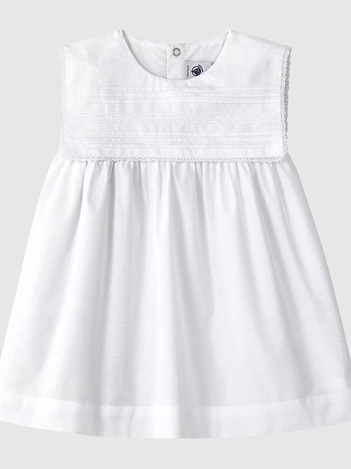 Robe Blanche Sans Manches