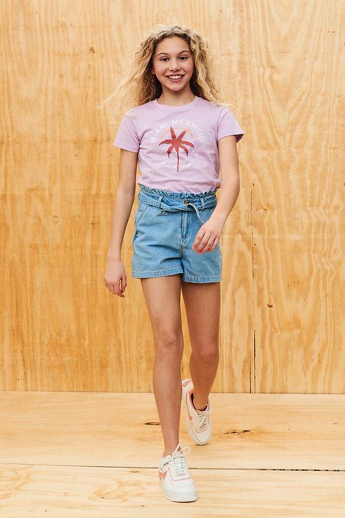 ShortJean Taille Haute