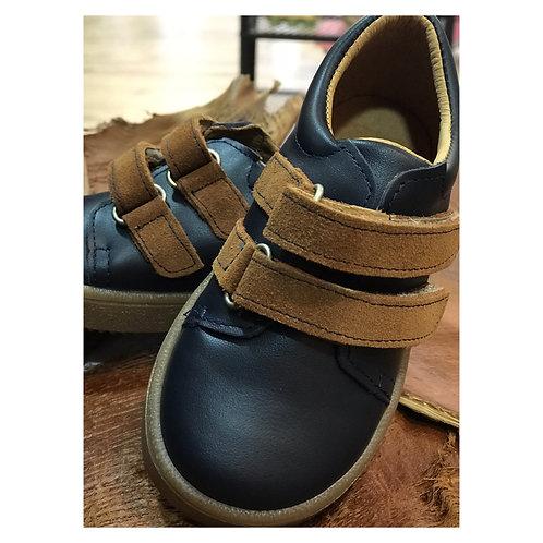 Chaussures Bleu Marine à Scratch garçon