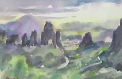 The view of Meteora