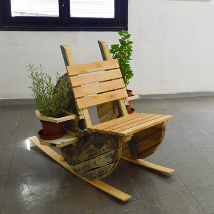 "The Green New Deal Test Pilot Seat"" showed in the ""Always Forever"" exhibition as part of the Back to Athens 7 festival, 2020"