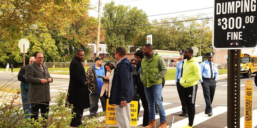 Neighborhood Walk Through with Councilman Curtis Jones, Jr.  & 19th Police District