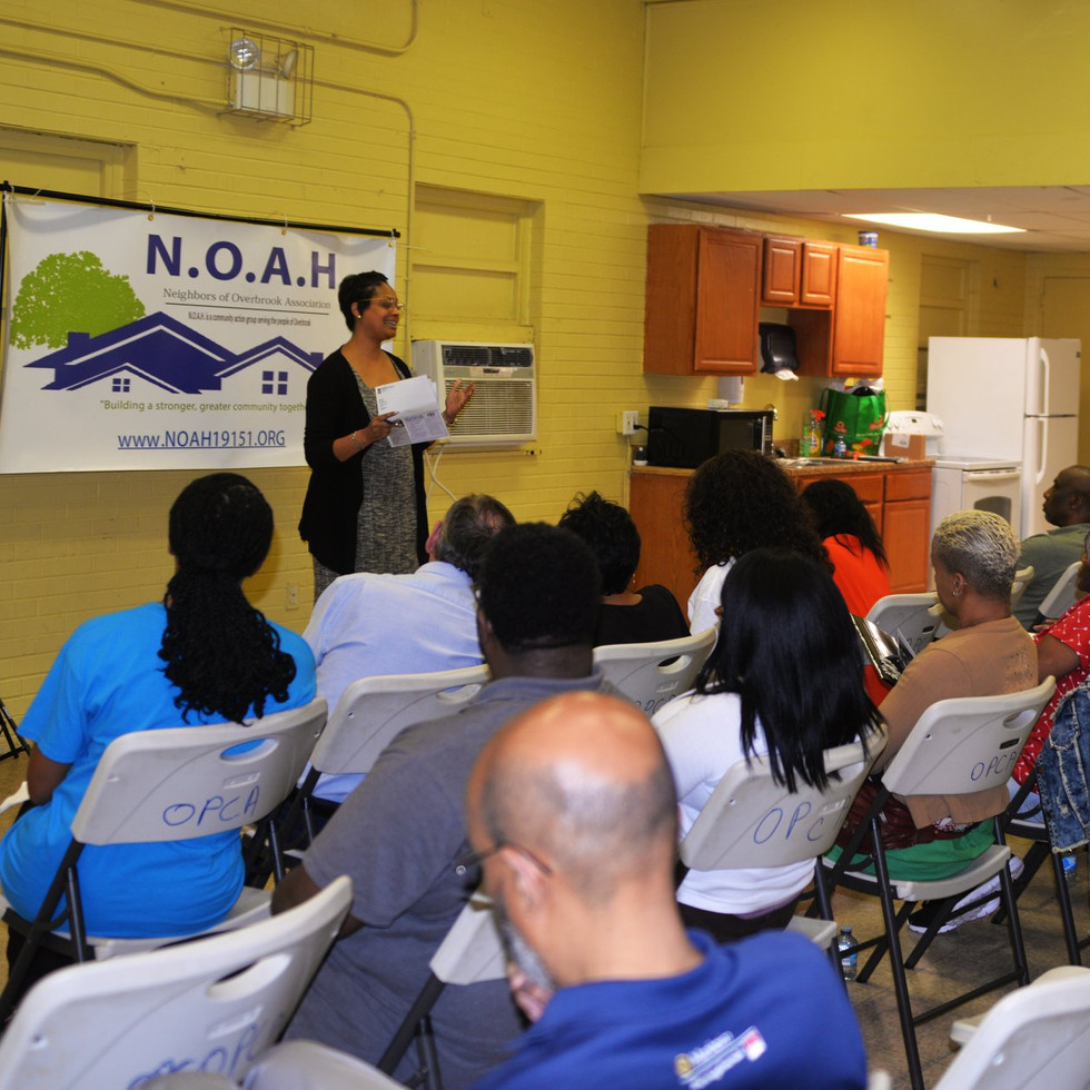 Morgan Cephas, State Representative speaking at NOAH quarterly meeting