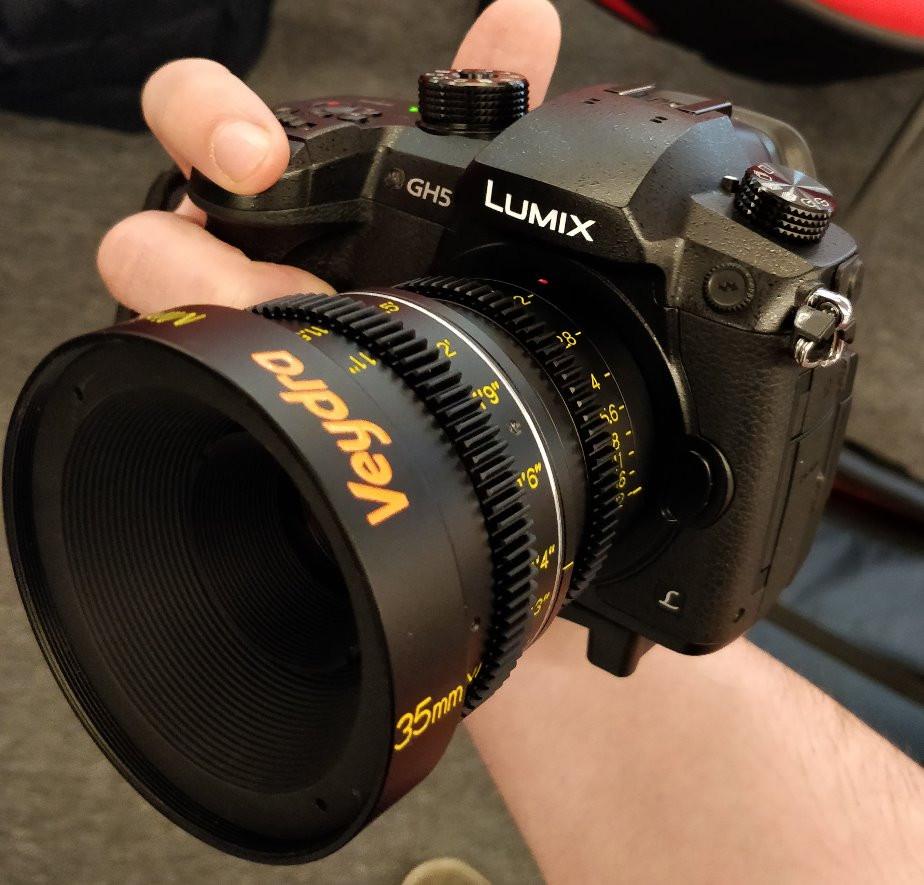 Panasonic GH5 with Veydra Mini Prime 35mm Lens