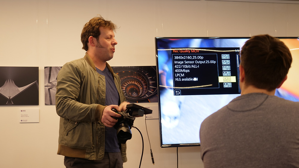 Panasonic guru Jim Marks demoing the Panasonic GH5s