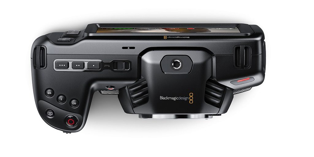 Blackmagic Pocket Cinema Camera - top view