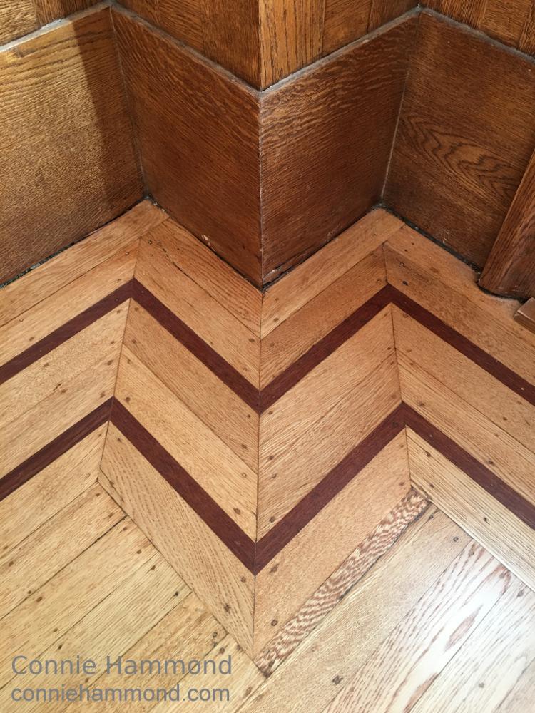 Inlaid Hardwood floor at the Belgravia