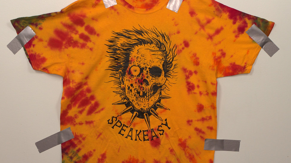 Throwback 2-patterened Speakeasy Tattoo Tee - Size 2XL