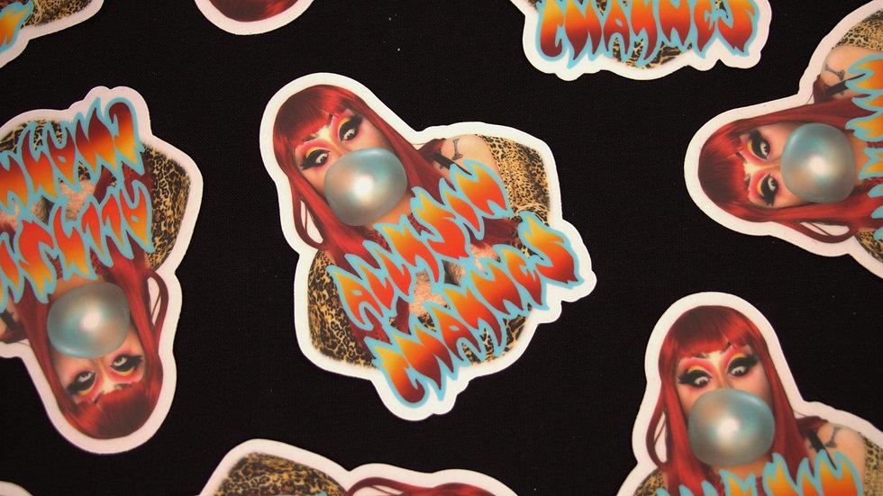 Allysin Chaynes Blowin' Bubbles Sticker (clear sticker)