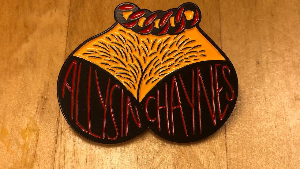 Allysin Chaynes Hairy Tits Enamel Pin