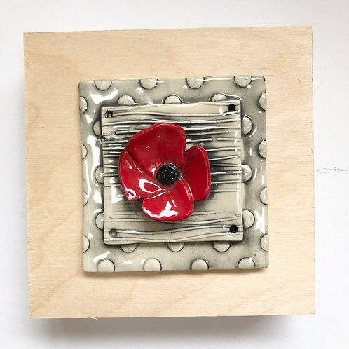 poppy wall tile