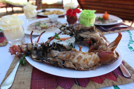 Grilled crayfish