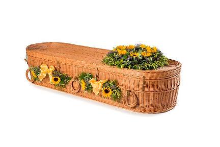 Green burials - wicker coffin