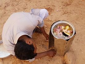 Cookin in the desert wadi rum