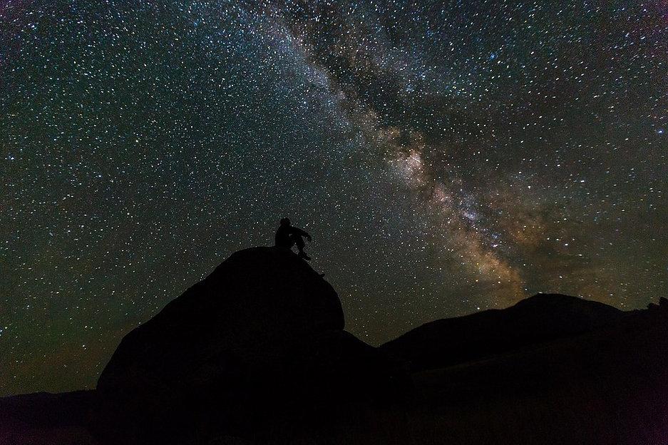 Sleeping under the stars in the desert.