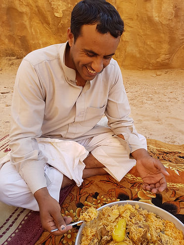 Traditional Bedouin cooking