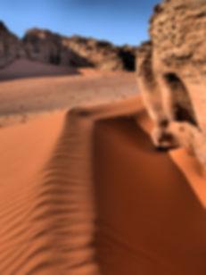 Wonderl landscape in Wadi Rum