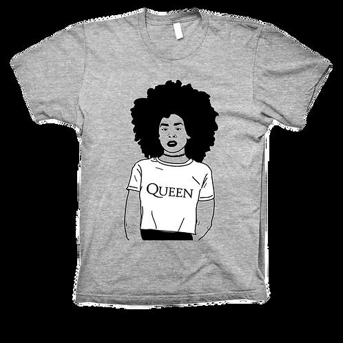 Afro Queen Vneck